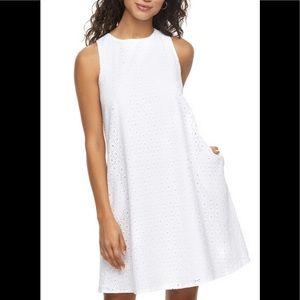 Sharagano Cosmopolitan Sheath Eyelet Dress